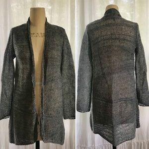 Eileen Fisher Alpaca & Wool Long Cardigan, EUC